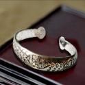 Bracelet femme en métal argenté
