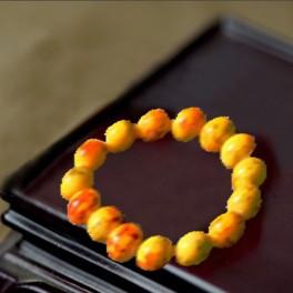 Bracelet en agate jaune