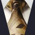 Cravate carreaux et rayures en soie