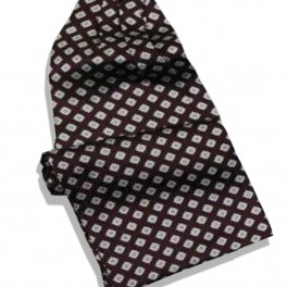 Foulard cravate bordeau en satin de soie