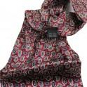 Foulard Cravate rouge à motifs cachemire